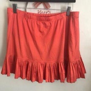 Orange tennis skirt 🎾